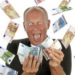 Mtotally excited after winning lotery — Stock Photo #11504403