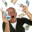Royalty-Free Stock Photo: Man totally excited after winning the lotery