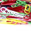 Paperclips isolated on white - Stock Photo