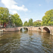 Classical Amsterdam view in the Netherlands — Stock Photo