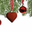 Christmas ornaments in the tree — Stock Photo