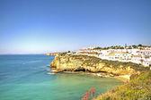 Carvoeiro at the Atlantic ocean in the Algarve Portugal — Stock Photo