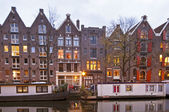 Amsterdam at sunset in the Netherlands — Stock Photo