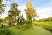 Typical dutch summer landscape in the Netherlands — Stock Photo