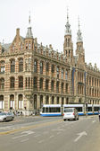 Medieval building Magna Plaza in Amsterdam — Stock Photo