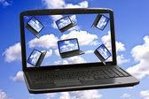 Cloud computing teknik koncept — Stockfoto