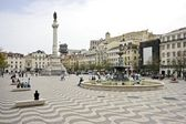 Square in Lisbon Portugal — Stock Photo