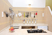 New modern equipped kitchen — Stock Photo