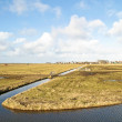 Wide view in the countryside from the Netherlands - Stock Photo