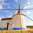 Traditonal windmill in Portugal — Stock Photo