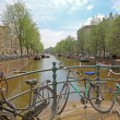 Amsterdam city and everywhere bikes in Netherlands — Foto Stock #11515741