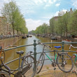 Amsterdam city and everywhere bikes in Netherlands — Stock Photo #11515741