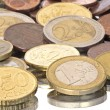 Euro coins from Europe — Stock Photo