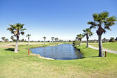 Golf course in the Algarve Portugal — Stock Photo