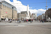 Damsquare in Amsterdam the Netherlands — Stock Photo