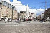 Damsquare in amsterdam niederlande — Stockfoto