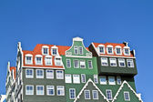 Typical dutch medieval facades in the Netherlands — Stock Photo