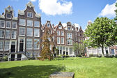 Medieval historical houses in Amsterdam the Netherlands — Stock Photo