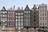 Medieval facades in Amsterdam the Netherlands — Stock Photo