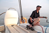 Voile sur la mer d'Ijssel aux pays-bas — Photo