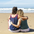 Couple in love at the beach — Stock Photo