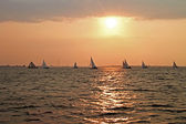 Sailing on the IJsselmeer in the Netherlands — Stock Photo