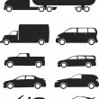 Vehicles Icon Set — Imagen vectorial
