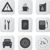 Automobile Icons — Stock Vector