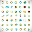 49 design elements - creative symbols collection — Stock Vector
