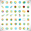 Stock Vector: 49 design elements - creative symbols collection