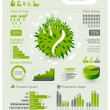 Ecology info graphics collection - ENERGY industry - charts, symbols, graphic elements — Stock Vector