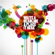 Funky graphic design - abstract background - Image vectorielle
