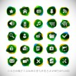 Stock Vector: Web icons with transparency effects (eps10)