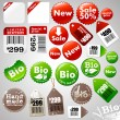 Sale icons and different product labels package - Stock Vector