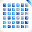 Vector de stock : Bluetones - blue glossy icons