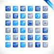 Stock Vector: Bluetones - blue glossy icons