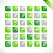 Royalty-Free Stock Vector Image: Greentones - green glossy icons