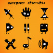 Cursors - internet creatures — Stock Vector