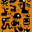 Monsters, mutants and creatures - Stock Vector