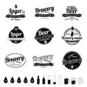 коллекция премиум качества пива — Cтоковый вектор