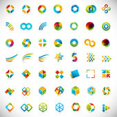 49 design elements - creative symbols collection — Stok Vektör