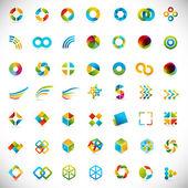 49 elementos de diseño - colección de símbolos creativa — Vector de stock