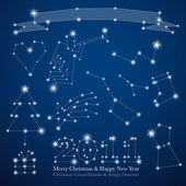 Christmas constellations — Stock Vector