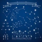 Christmas constellations — Stock Vector