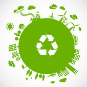 Grön jord - hållbar utveckling-konceptet — Stockvektor