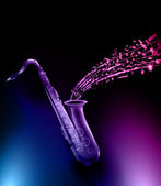 Vector saxophone - music background — Stock vektor