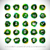 Web icons with transparency effects (eps10) — Stock Vector