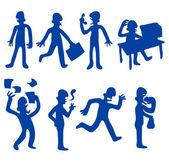 人类行为-设置 1 — 图库矢量图片