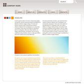 Plantilla de sitio web con iconos y elementos (objetos editables fáciles, véase también otras cosas para la web en mi galería) — Vector de stock