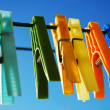 Clothepins on the line - Stock Photo